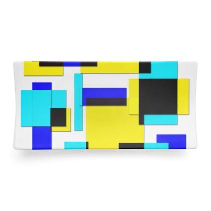Seder Dish - Bright Squares