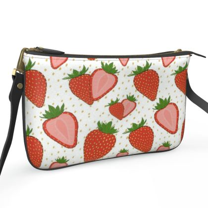 Sweet Strawberries - Pochette Double Zip Bag