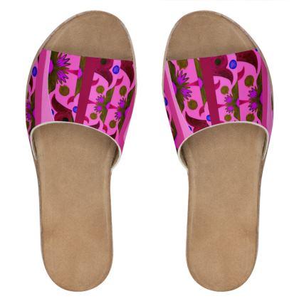 sandali in pelle linea acquarelli