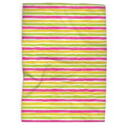 Spring Stripes - Tea Towel