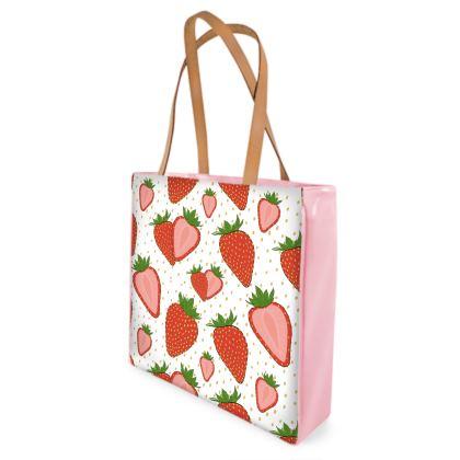 Sweet Strawberries - Beach Bag