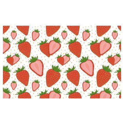 Sweet Strawberries - Zip Top Handbag