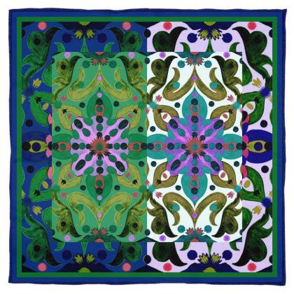 foulard in seta linea acquarelli