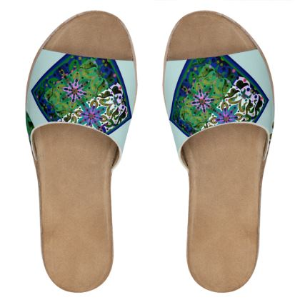 Sandali in pelle collezione acquarelli