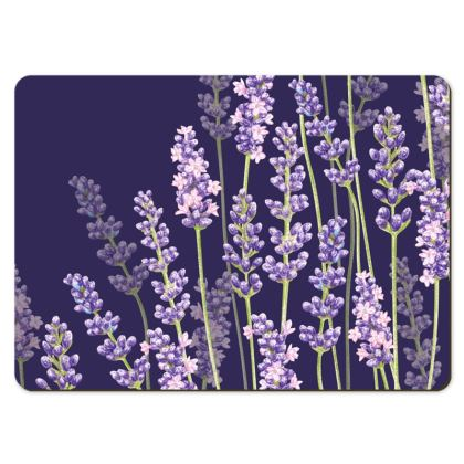 Large Placemats - Midnight Lavender Fancy