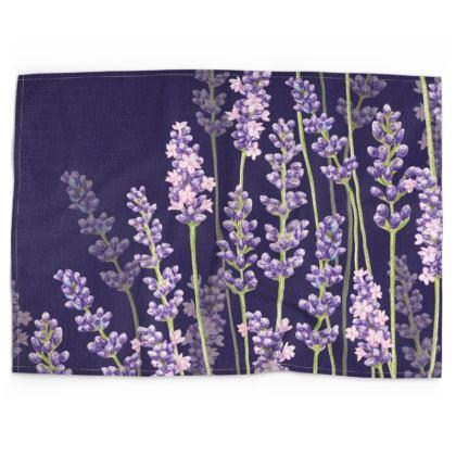 Midnight Lavender Fancy Tea Towel