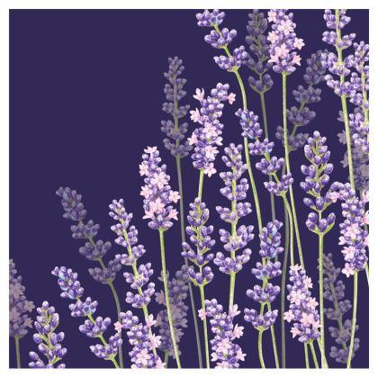 Midnight Lavender Fancy Zip Top Handbag