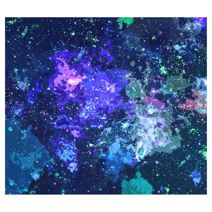 Flared Skirt - Purple Nebula Galaxy Abstract