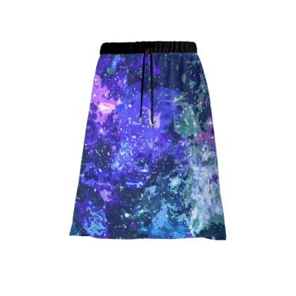 Skirt - Purple Nebula Galaxy Abstract