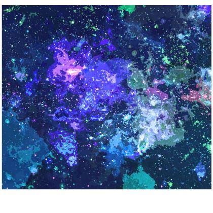 Slip Dress - Purple Nebula Galaxy Abstract
