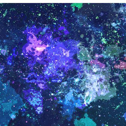 Short Slip Dress - Purple Nebula Galaxy Abstract