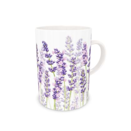 Tall Bone China Mug - Lavender Fancy