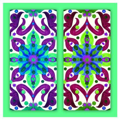 maglietta di cotone linea acquarelli