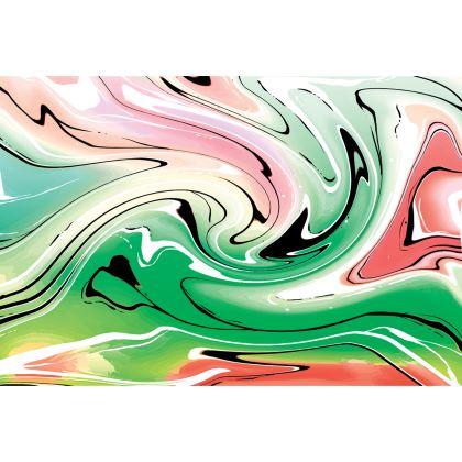 Knee Length Flared Skirt - Multicolour Swirling Marble Pattern 1 of 12