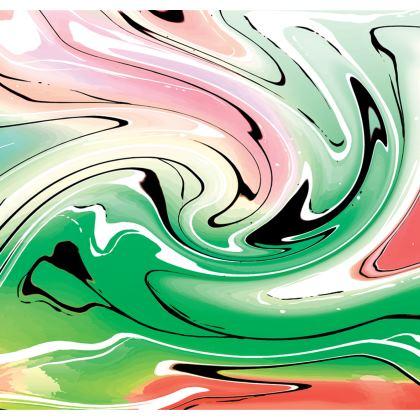 Skater Dress - Multicolour Swirling Marble Pattern 1 of 12