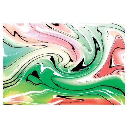 Skirt - Multicolour Swirling Marble Pattern 1 of 12