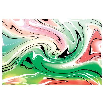 Mini Skirt - Multicolour Swirling Marble Pattern 1 of 12