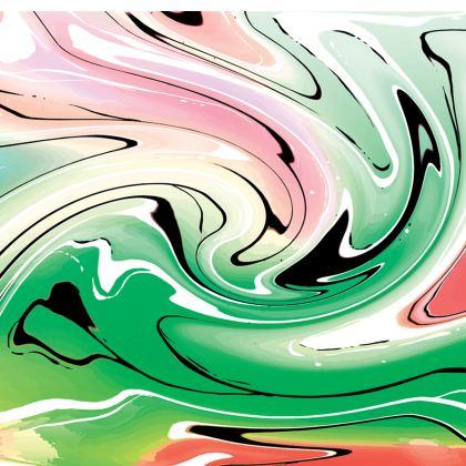 Short Slip Dress - Multicolour Swirling Marble Pattern 1 of 12