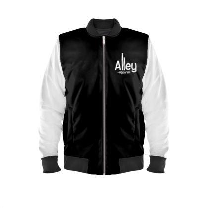 Alley of Apparels Black & White Unisex Bomber Jacket