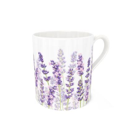 Large Bone China Mug - Lavender Fancy