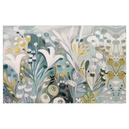 Fabric Print in Winter Greys design by Natalie Rymer