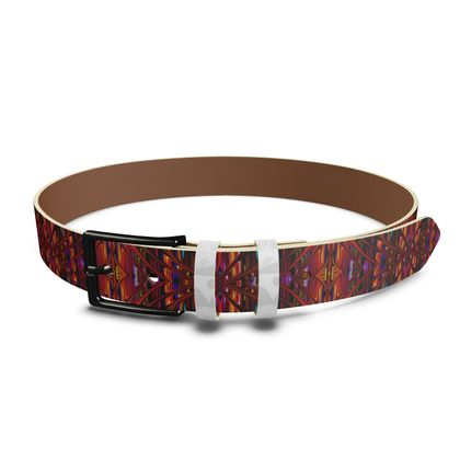 Leather Belt Red Tree