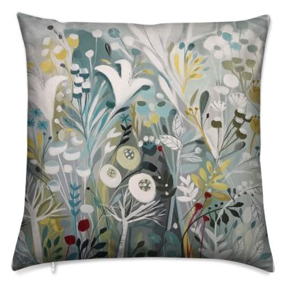 Cushion in Winter Greys design by Natalie Rymer