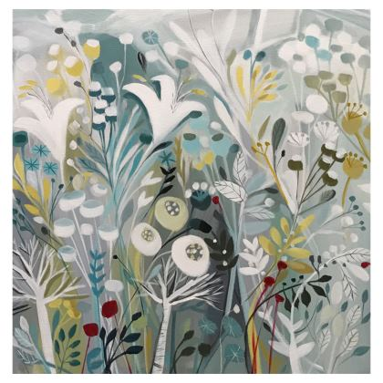 Coasters set of 4 in Winter Greys design by Natalie Rymer