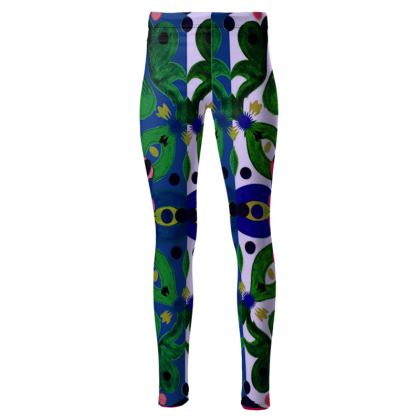 leggings linea mare acquarelli