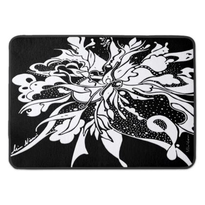 Bath Mat - Badrumsmatta - White Ink Black