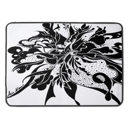 Bath Mat - Badrumsmatta - Black Ink White