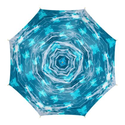 Umbrella - Shark Ocean Abstract