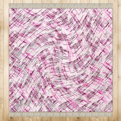Medium Rug (128x128cm) - Petri Family Pink Remix