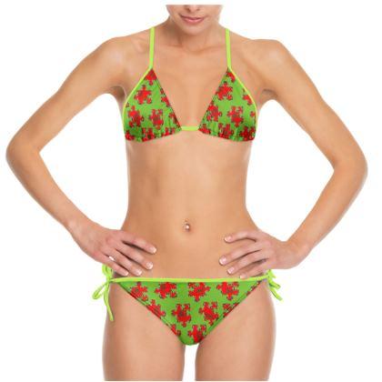 """Bikini """"Windhund-Puzzle grün"""""""