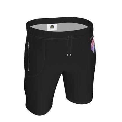 Mens Sweat Shorts - Guru Motorpsychlist Funny Pun
