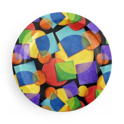 Candy Rainbow Geometric Party Plates