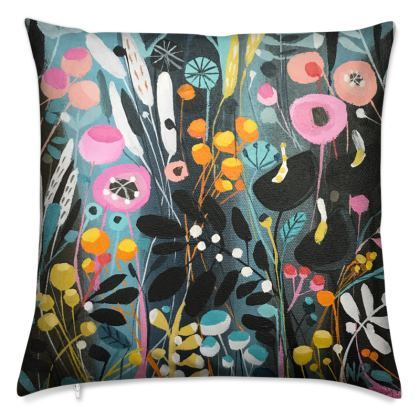 Cushions in Wild Flowers design by Natalie Rymer