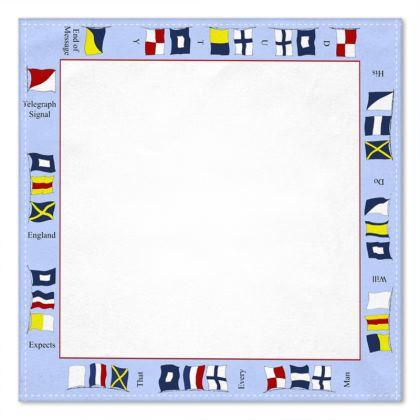 Signal Flags pocket square White centre