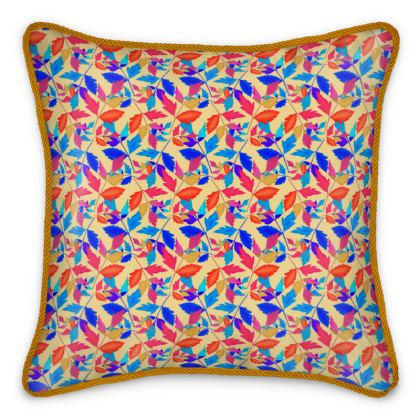 Silk Cushions Cathedral Leaves Kaleidoscope
