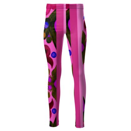 leggings linea acquarelli