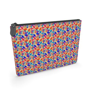 Leather Pouch Cathedral Leaves Kaleidoscope