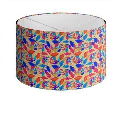 Drum Lamp Shade Cathedral Leaves Kaleidoscope