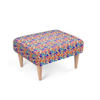 Footstool Cathedral Leaves Kaleidoscope
