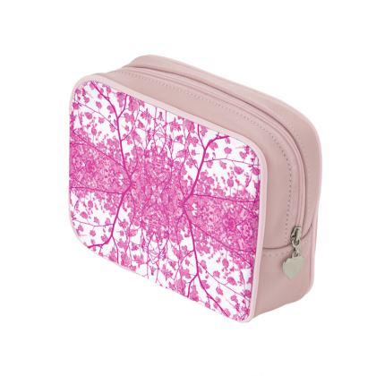 Lilac Damask Make Up Bag