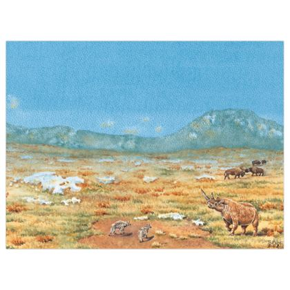 Poster Prints (+A3 size) Title : Maybe...Once Again : Prehistoric : Wholly Rhinoceros : Ice Age : Wildlife : Tundra