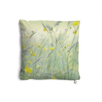 Pillows set in Buttercup Meadow Flower Design