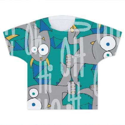 Leo Monster, Green, Slogan Children's T-Shirt Designed by Spoilt By Jade