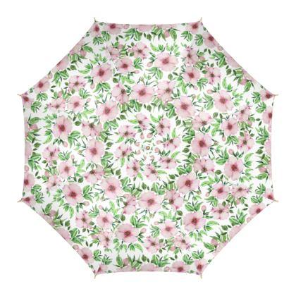 Water Colour Floral Umbrella