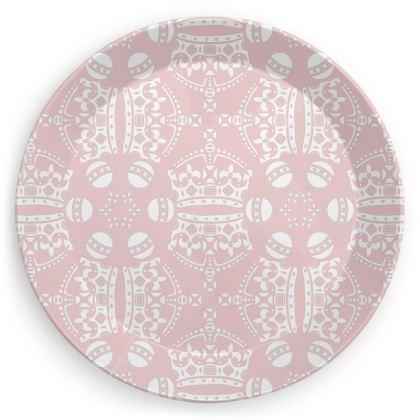 Pink Crown Orb Plate