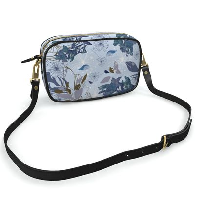 Blue Herbarium Camera Bag